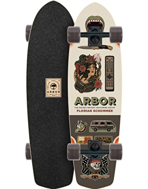 Arbor Pocket Rocket Artist Series Cruiser - 7.75