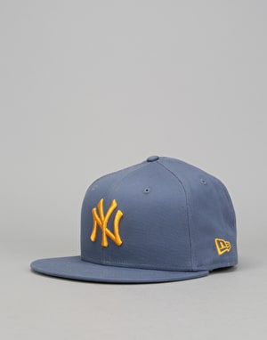 New Era 9Fifty MLB New York Yankees Leauge Snapback Cap - Slate/Gold