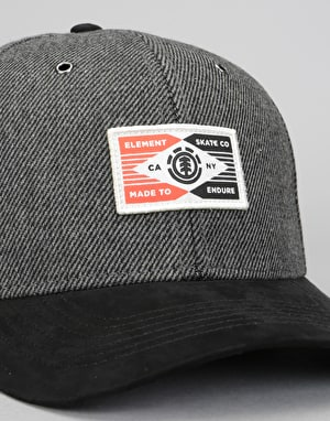 Element Plug Snapback Cap - Asphalt Heather