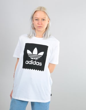 Adidas Womens Solid Blackbird Oversized T-Shirt - White/Black
