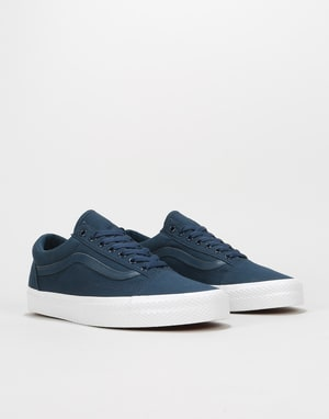 Vans Old Skool Skate Shoes - (Waffle Wall) Dress Blues/True White