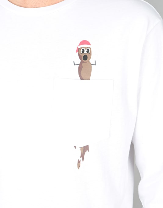 HUF x South Park Mr. Hankey L/S T-Shirt - White