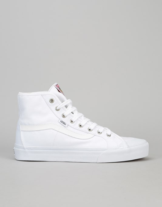 Vans Black Ball Hi SF Skate Shoes - White/White