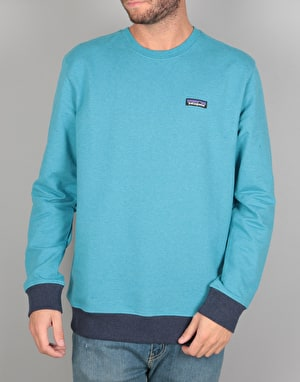 Patagonia P-6 Label Midweight Crew Sweatshirt - Filter Blue