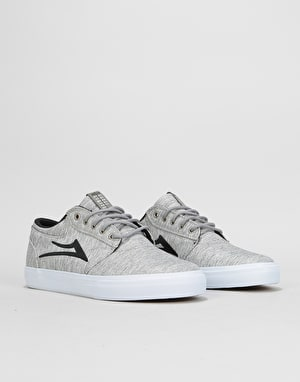 Lakai Griffin Skate Shoes - Grey/Black Textile