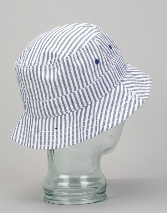 New Era Seersucker Bucket Hat - Light Blue