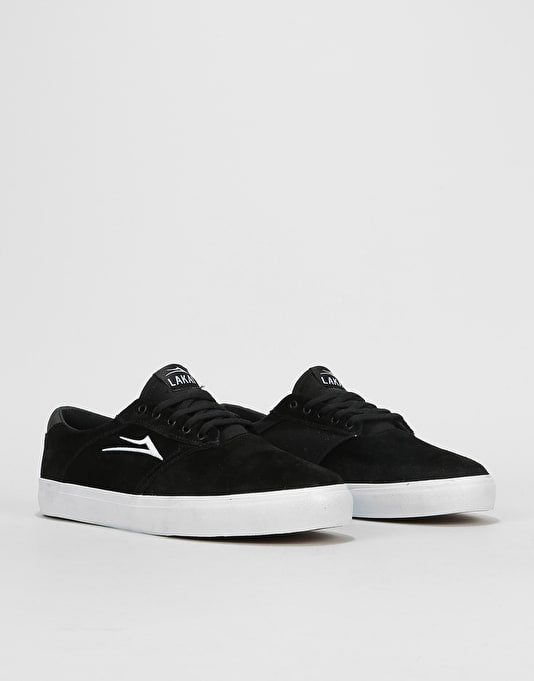 Lakai Porter Skate Shoes - Black Suede