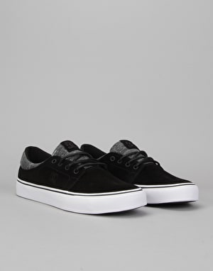 DC Trase LE Skate Shoes - Black/Armor/Black