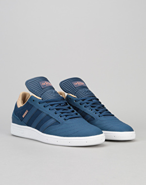 Adidas Busenitz Skate Shoes - Mystery Blue/White/Pale Nude