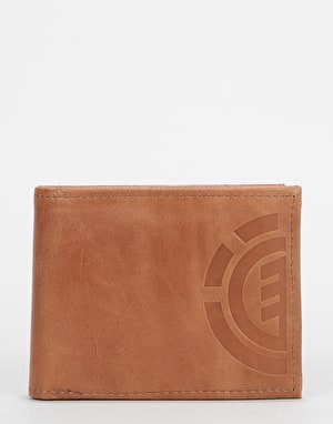 Element Daily Elite Leather Wallet - Brown