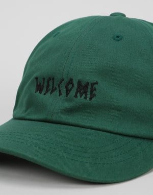 Welcome Scrawl Unstructured Slider Cap - Spruce/Black