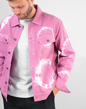 Stüssy Bleach Dyed Trucker Jacket - Dusty Rose