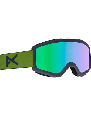 Anon Helix 2.0 2018 Snowboard Goggles - Forest Green/Green Solex