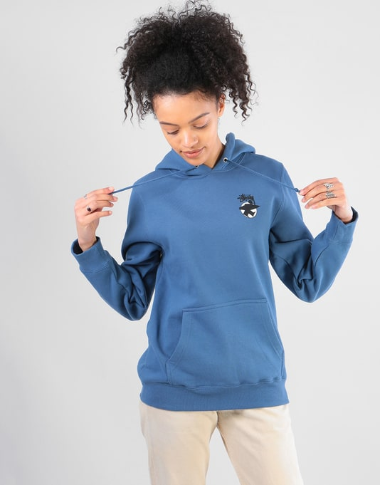 Stüssy Womens Basic Surfman Hoodie - Cool Blue