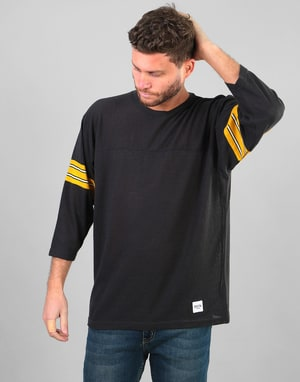 Brixton Greensboro 3/4 Sleeve Knit T-Shirt - Washed Black