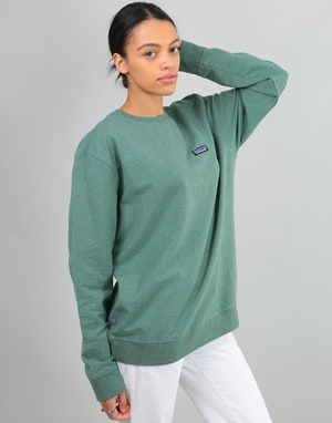 Patagonia Womens P-6 Label Oversized Sweatshirt - Pesto