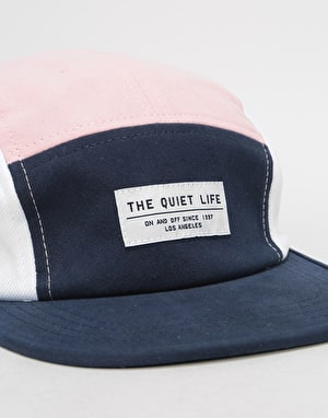 The Quiet Life Boardwalk 5 Panel Cap - Navy/Pink/White