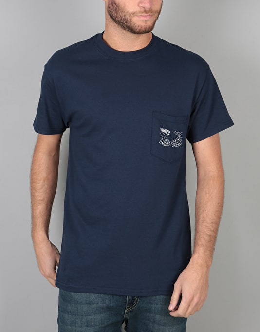 Doom Sayers Snake Shake Pocket T-Shirt - Navy