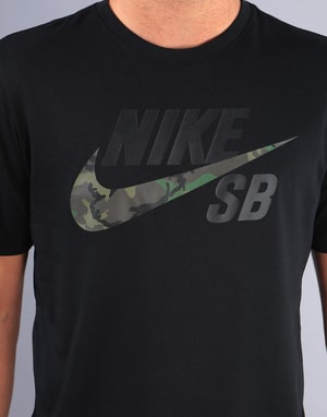 Nike SB Dri-Fit Camo T-Shirt - Black/Black