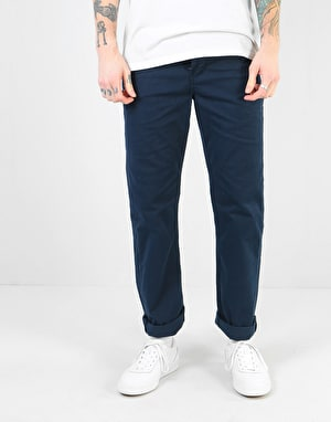 Route One Premium Relaxed Fit Chinos - Navy