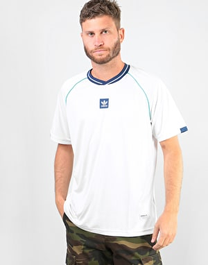 Adidas Athleisure Jersey - White/Noble Indigo/Shock Green