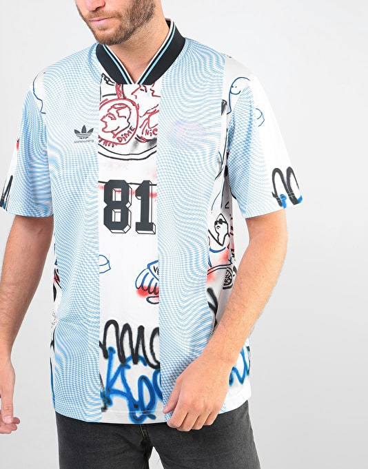 Adidas Gonz (Argentina) S/S Jersey - Black/White/Clear Blue/Multicolor