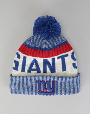 New Era NFL NY Giants Sideline Bobble Beanie - Multi