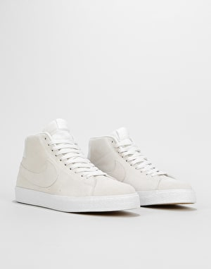 Nike SB Zoom Blazer Mid Decon Skate Shoes - Summit White/Summit White