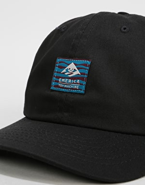 Emerica x Toy Machine Toy Decontructed 6 Panel Cap - Black