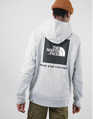 The North Face Raglan Red Box Hoodie - TNF Light Grey Heather