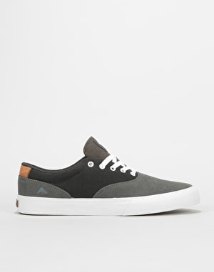 Emerica Provost Slim Vulc Skate Shoes - Grey/Dark Grey/Gold