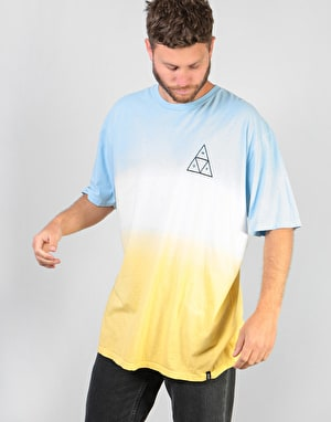 HUF Triple Triangle Gradient T-Shirt - Ballard Blue