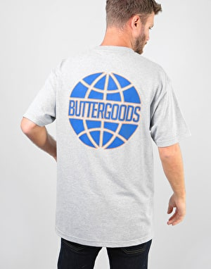 Butter Goods Keyline Worldwide T-Shirt - Heather Grey