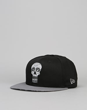 New Era 9Fifty Punisher Floral Infill Snapback Cap - Black/Grey