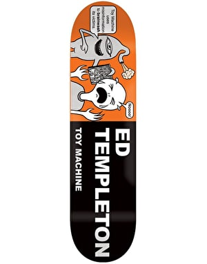 Toy Machine Templeton Tract Skateboard Deck - 8.5