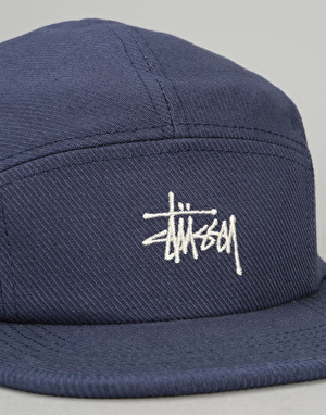 Stüssy Basic Logo 5 Panel Cap - Blue
