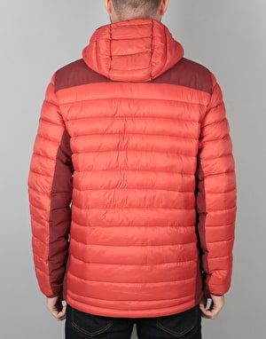 Burton Evergreen Synthetic Hooded Insulator Jacket - Bitters/Fired Brick