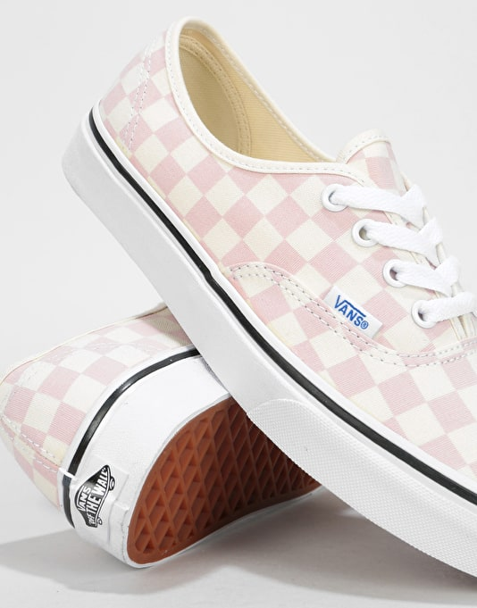 Vans Authentic Womens Trainers - (Checkerboard) Chalk Pink/White