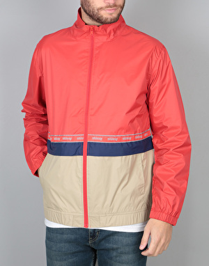Stüssy Nylon Warm Up Jacket - Red