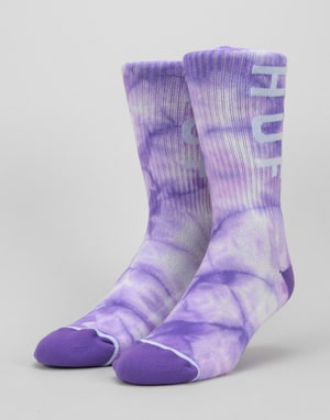 HUF OG Logo Crew Socks - Purple