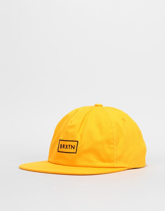 Brixton Rift Medium Profile Snapback Cap - Yellow