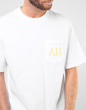 Anti Hero Drophero T-Shirt - White/Yellow