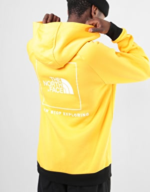 The North Face Raglan Red Box Pullover Hoodie - TNF Yellow