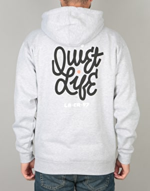 The Quiet Life Aussie Script Pullover Hoodie - Heather Grey
