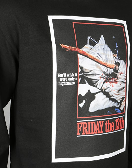 The Hundreds x Friday The 13th Scream L/S T-Shirt - Black