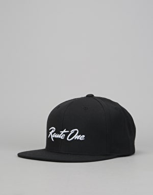 Route One Regatta Snapback Cap - Black