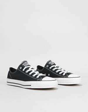 Converse CTAS Pro Ox Canvas Skate Shoes - Black/Black/White