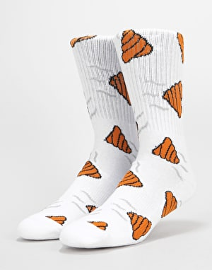 Route One Steamers Crew Socks - White