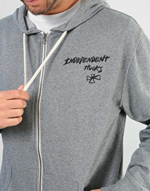 Independent Barbee Cross Zip Hoodie - Salt & Pepper