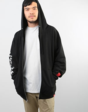 Chocolate Chunk & Square Zip Hoodie - Black